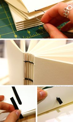 #bookbinding #tutorial for an elastic closure on a coptic stitch -