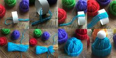 Yarn Hat Mini Christmas Tree Ornaments | The WHOot