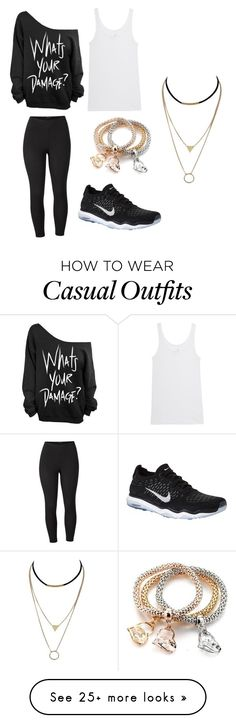 """""""Casual #3"""" by bella-boo-4 on Polyvore featuring Venus, NIKE, Juvia and plus size clothing"""