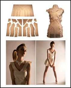 Sustainable Fashion Design using jigsaw-like, zero waste pattern cutting techniques; eco fashion // Mark Liu