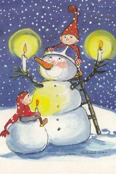 Christmas Rock, Christmas Snowman, Vintage Christmas, Christmas Ideas, Free Printable Christmas Cards, Christmas Clipart, Christmas Illustration, Cute Illustration, Winter