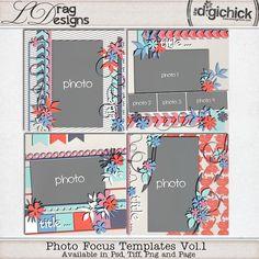 Photo Focus Templates Vol. 1 by LDrag Designs
