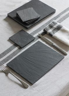 Slate Placemats and Coaster Set by Garden Trading