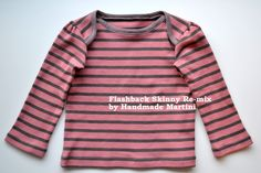 Handmade Martini: Tutorial: Flashback Skinny to Envelope Tee.  This one is girly, but I need to make my next one like this for m big-headed boy