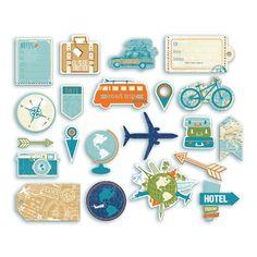 CH59_1 Printable Stickers, Cute Stickers, Planner Stickers, Scrapbook Journal, Travel Scrapbook, Travel Doodles, Bullet Journal Travel, Photo Album Scrapbooking, Scrapbook Stickers