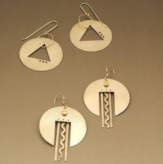 Large disk earrings  Linda Penzur Jewelry Studio