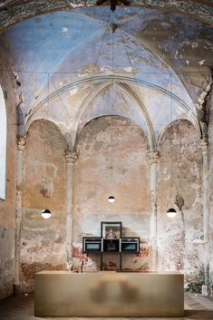Klaarchitectuur inserts new architecture studio inside dilapidated Belgian chapel New Architecture, Religious Architecture, Architecture Religieuse, Tower Of Babel, Adaptive Reuse, Chapelle, Commercial Design, Home Design, Design Ideas