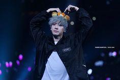 Hearts from chanyeol with rilakkuma ears
