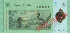 Featured on the new RM5 polymer banknote is the Rhinoceros Hornbill (Buceros rhinoceros), one of the largest and most magnificent hornbill species in the world.  Find our more http://www.bnm.gov.my/microsites/2011/banknotes/index.htm