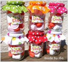 Summer + country + 70s birthday party - Candy pot for children © made by iSa