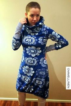 OMMELLINEN: Säihkyvä sininen Unique Dresses, Handicraft, Diy And Crafts, Couture, Sewing, Crochet, Womens Fashion, Inspiration, Outfits