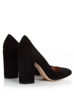 Gianvito Rossi's black suede Linda pumps will become one of the hardest working items in your edit.