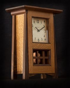Hand Made Oak and Walnut Mantel Clock With by HeirloomsEtcetera, $595.00