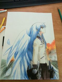 Angel Beats: angel. Awesome drawing! Whoever drew this, I solute you!