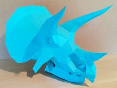 This papercraft is a Triceratops Head Skull, created by Gedelgo. The size of finished model is about 276 (H) x 263 (W) x 350 (D) mm. Triceratops is a genus