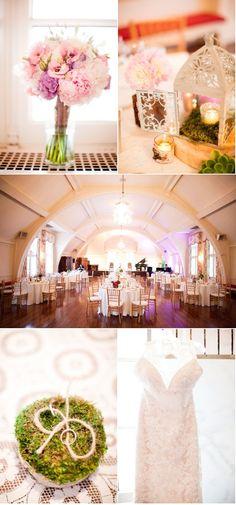 Very pretty {anniversary celebration ideas: Like the centerpieces}