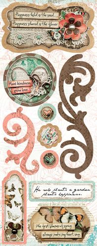 Bo Bunny Press - Gabrielle Collection - Cardstock Stickers - Grow Love at Scrapbook.com $1.99