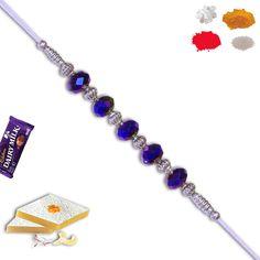 #Blue #silver #beadrakhi www.rakhistoreonl... @rakhistore Saved by