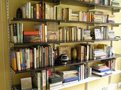 Details About Elfa Bookshelves Design Ideas With Metal Material