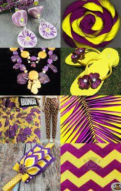 Excellent color combinations in purple