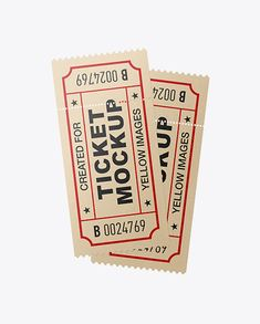 Free PSD Mockup Free Mockups Two Paper Tickets Mockup Object Mockups Photoshop Smart Layers Imac Apple, Free Mockup Templates, Billboard Signs, Identity Branding, Corporate Identity, Identity Design, Brochure Design, Visual Identity, How To Make Logo