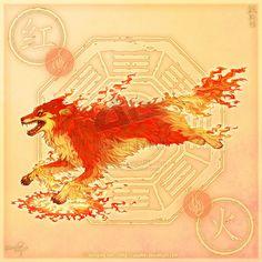 Wolf of Fire by yuumei.deviantart.com on @deviantART