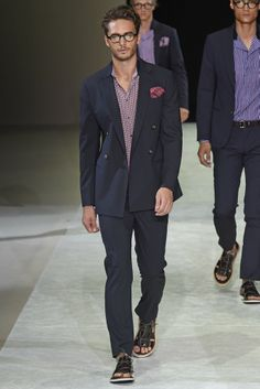 well suited Giorgio Armani Men's RTW Spring 2015