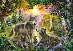 Autumn Wolf Family by Jan Patrik Krasny