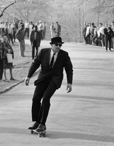 Skateboarding in Central Park in 1965, back when it was still completely new and pretty much unheard of.
