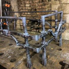 Table base #blacksmith #handforged #madeinbuffalo #tablebase #ironwork