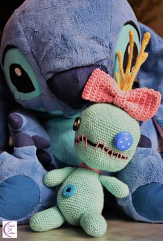 Scrump Souillon by Chiyoko Cute Creation Crochet Patterns Amigurumi, Amigurumi Doll, Crochet Stitches, Lilo's Doll, Dolls, Lilo Et Stitch, Disney, Make Your Own, Stitch Patterns