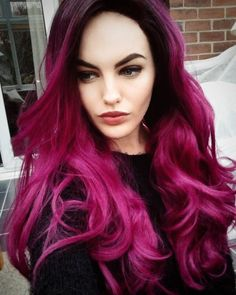 Long Wavy Burgundy Lace Front Ombre Lush Wig - Worldwide Tracked Delivery