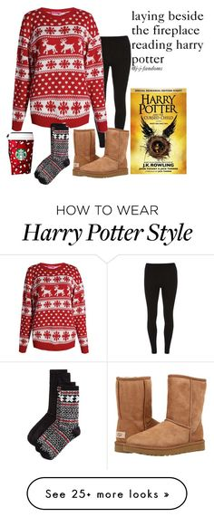 """""""night"""" by j-j-fandoms on Polyvore featuring Dorothy Perkins, UGG, Boohoo and Hue"""
