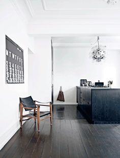 Un appartement au style loft Design Scandinavian, Scandinavian Kitchen, Home Living, Living Spaces, Living Room, Danish Kitchen, Danish Interior, Style Loft, Appartement Design