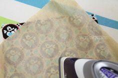 Tisch Untersetzer nähen   Stoff laminieren & beschichten mit iron on vinyl Folie   waseigenes.com
