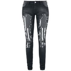 Dressation Womens Punk Style Ripped Distressed Skinny Jeans Pants ($40) ❤ liked on Polyvore featuring jeans, destructed jeans, distressing jeans, destroyed jeans, destruction jeans and ripped jeans
