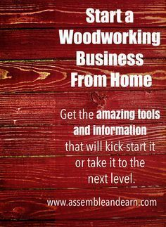 Start earning an income with a woodworking business from home using these amazing woodworking guides and resources.
