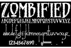 Zombified font by Sinister Fonts - FontSpace