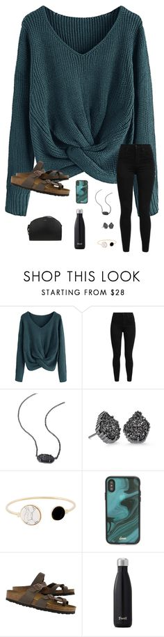 """""""I got a passion for fashion! what can I say?"""" by trujilloxochitl ❤ liked on Polyvore featuring Levi's, Kendra Scott, Sonix, Birkenstock and A.P.C."""