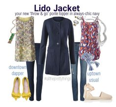 """""""Lido Jacket - your new throw&go"""" by brie-zy ❤ liked on Polyvore featuring CAbi, Yves Saint Laurent, women's clothing, women, female, woman, misses, juniors and alltheprettythings"""