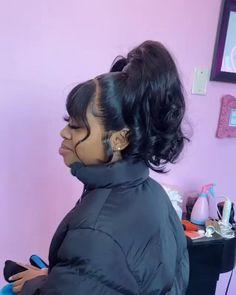 Baddie Hairstyles, Ponytail Hairstyles, Weave Hairstyles, Pretty Hairstyles, Hair Ponytail Styles, Sleek Ponytail, Hair Styles, Birthday Hairstyles, Look Body
