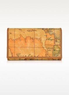 €138.00 | Twelve card slots, an ID window and multiple long pockets for paper currency create a well-organized wallet, crafted in classic geo print. Each item is unique; the featured map will differ from the photo. Signature box included.