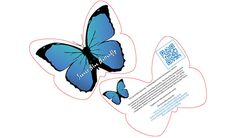 Complete the form on the lower left of the page to receive 5 Secret Blue Butterfly Cards.  5 Free Secret Blue Butterfly Cards