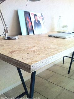 Strip back the current Front Desk to MDF Diy Furniture Projects, Plywood Furniture, Furniture Making, Cool Furniture, Furniture Design, Shed Interior, Shop Interior Design, Home Office Space, Home Office Decor