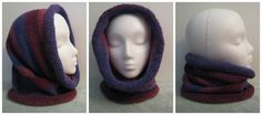 Convertable Hoodie/Cowl. Knit in the round.
