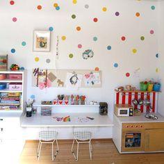 lovely kiddo's art corner at the home of @petitcollage founder & designer Lorena Siminovich