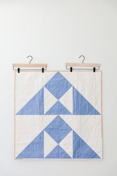 Cornflower Blue Hill-and-Valley Baby Quilt