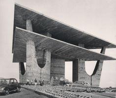 Oscar Niemayer's television tower, Brasilia, 1967