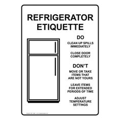 Fridge Clean Out Etiquette Sign Funny In 2019 Pinterest Clean