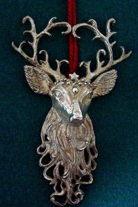 Christopher Radko Reindeer Sterling Ornament